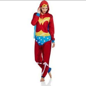 NWT Wonder Woman PJs Costume One Piece